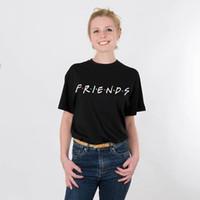 친구 편지 레이디 소녀 면화 캐주얼 플러스 크기 재미 있은 t 셔츠 t- 셔츠 하라주쿠 한국 여성을 인쇄 티 소식통 드롭 선박 NVTX115 R 탑스