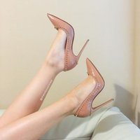 brand shoes red sloe women pumps high heel shoes rivet point...