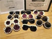 비치 여성 선글라스 도매 패션 파티 태양 안경 믹스 디자인 복고풍 라인 석 수제 꽃 진주