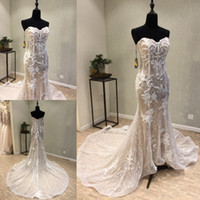 2018 Classical Full Lace Applique Wedding Dresses Sweetheart...