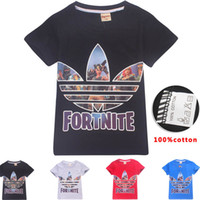 4 Color Boys Girls fortnite Leaf T- shirts New Children Game ...