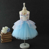 Cute girls party dress summer soft tulle sweet baby girls dr...