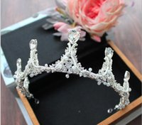 New European style hand drill string, pearl crown, bridal he...