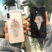 Lovely 3D Summer Ice Cream Phone Case For iPhone 6 6S 7 8 Pl...