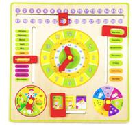 Детские Деревянные Игрушки-Головоломки Когнитивные Цифровые Часы Цифровые Деревянные Часы Игрушки Головоломки Мультфильм Threading Assembly Toys