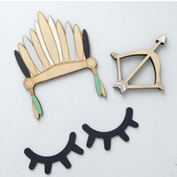 Nordic Style Cute Wood 3D Eyelash Wall Decor Eye lash Wall S...