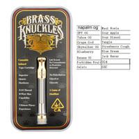 Sıcak satış Pirinç Knuckles Altın Renk 18 flovor sticker Pyrex Cam CE3 A3 Kartuşları 510 vape kartuşları Çift Pamuk Bobinleri Seramik