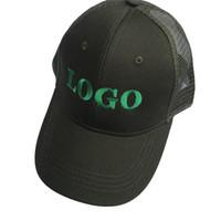 Mesh personalizzato 10PCS / LOT personalizzato Snapback Cap personalizzato Baseball Hat trucker cap adulti bambini taglia ricamo Logo testo