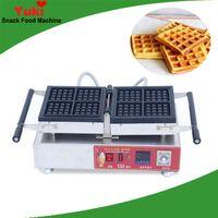 Ticari 4 adet Kare Waffle Makinesi Elektrikli Waffle Yapma Makinesi Paslanmaz Çelik Yapışmaz Waffle Pan Snack Ekipmanları NP-908