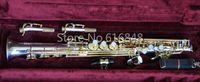 JUPITER JPS-847 Nuovo Soprano B sassofono piatto ottone placcato in argento corpo oro lacca chiave strumento sax con custodia bocchino