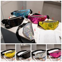 Waist Bags 5 Colors Zipper Laser Beach Bag Lady Girls Fanny ...