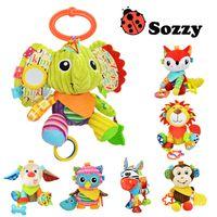 Sozzy Multifunktionale Baby Spielzeug Rasseln Mobiltelefone Weiche Baumwolle Infant Pram Kinderwagen Auto Bett Rasseln Hängen Tier Plüsch Spielzeug
