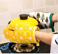 1PCS القطن فرن القفاز القفاز عازل للحرارة المطبخ