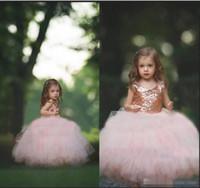 Abiti da principessa in tulle rosa con fiore principessa per bambina in tulle rosa