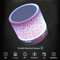 Column LED Mini Wireless Bluetooth Speaker TF USB FM Portabl...