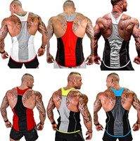 Summer GYM Fitness Tank Top for Mens Tanks Clothing Vests Sl...
