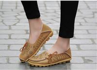 Women Hollow Out Genuine Leather Shoes Moccasins Mother Loaf...