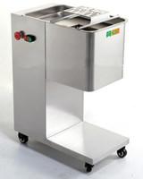 300 ~ 500 kg / h Fleisch Slicer maschine Kommerziellen Slicer maschine 2 ~ 20mm dicke edelstahl Fleisch cutter 550 Watt 220 V / 110 V