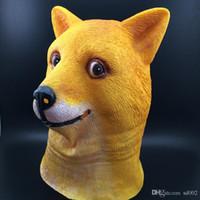 Lustige Hundekopf Gesichtsmasken Praktische Maskerade Latex Maske Hand Streich Prop Halloween Party Supplies Einfach Tragen 14 gcc cc