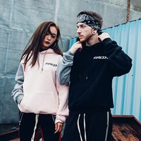 Hip- hop style men' s couple spring black pink hoodies hi...