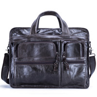 2018 New Fashion cowhide male commercial briefcase Real Leat...