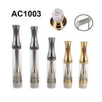 New AC1003 Metal Pyrex Glass Tube Cartridges Tank Vertical Ceramic Coil 510 Thick Oil O Pen BUD vapor A3 Cartomizer Vape th205