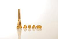 Profesyonel 6 ADET / Set Boyut 2a 2b 3a 3b Küçük Bb Trompet Ağızlık Gümüş Ve Altın Yüzey Saf Bakır Trompet Ağızlık Ücretsiz Kargo