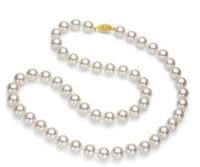 Collana in oro giallo con perle coltivate Akoya per 7mm, oro giallo 14K