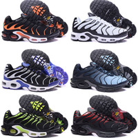 Remise Sports Casual Chaussures Nouveau TN Hommes Noir Blanc Rouge Hommes Runner Sneakers Homme Air Cushion Baskets Chaussures