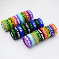 Silikonband graviert schönheit ring rutschfeste rutschfeste 22mm * 7mm silikon vape band für mechanische mods rda tank dekorative mech dampf dhl