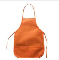 مآزر الأطفال النسيج جيوب مطبخ الفصول الحرف اللوحة الحرفية 6 اللون