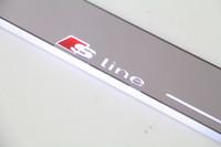 Pédale de remplacement LED pour Audi A6L 2013-2015, seuil de porte en acrylique, pédale de bienvenue