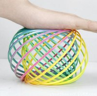 Rainbow Flow Ring Toys Magic bracelet Toroflux flow ring chi...