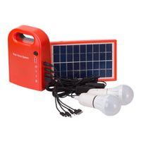 Portable 3W Solar Panel Energiesystem Ladegerät Camping Angeln Led-leuchten