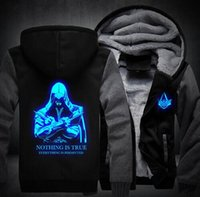 USA size Men Women Assassins Creed Luminous Jacket Sweatshir...