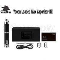 Auténtico Yocan Loaded Starter Kit E Cigarrillo Cera Vaporizador Vape Pen 1400mah QUAD Bobina de cuarzo QDC Bobina 4 colores 100% original