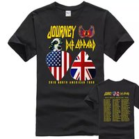 NUOVE date del tour Journey e Def Leppard 2018 MENWOMET'shirt Commercio all'ingrosso M-2XL LIMITED Pullover da baseball Cool Summer Tees Hiphop