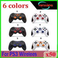 Universal sem fio Bluetooth Gamepad Gaming Controle Remoto USB recarregável Joysticks Multi Color Fit For PS3 50pcs YX-PS-9