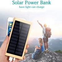 رقيقة جدا قوة البنك الشمسية 20000mAh بطارية خارجية شاحن سريع ثنائي USB Powerbank لوحة للطاقة الشمسية المحمولة مع ضوء فلاش