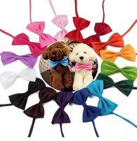 색상 애완 동물 타이 개 타이 칼라 꽃 액세서리 장식 용품 순수한 색 bowknot 넥타이