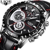 Fashion LIGE Mens Watch Men Full Steel Business Watch Date C...