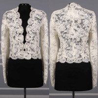 Горячие продажи Bridal Wraps с длинными рукавами свадебные пальто кружевные куртки для свадебных платьев Болеро Куртка изготовлена на заказ плюс размер накидки
