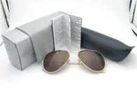 Mais barato Óculos De Sol das mulheres dos homens Da Marca de Metal Quadro Único lente Polarizada Revestimento uv400 Óculos De Sol Óculos de Proteção com caixa e casos 1 pcs