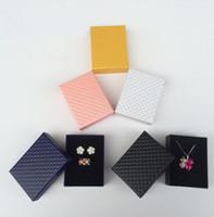 7 * 9cm 사각형 모양의 보석 귀걸이 선물 상자 검은 사각형 상자 케이스 보석 상자 GA51 반지