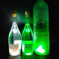 병 LED 빛 스티커 LED 와인 병 Glorifier 미니 빛 LED 코스터 컵 매트 파티 바 클럽 유리 꽃병 크리스마스 장식