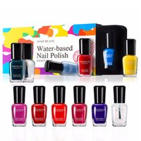 Water- based Nail Polish Set 5ML 6Pcs Lot Colorful Easy Peela...