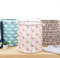 Lavanderia cesta de armazenamento de artigos diversos de armazenamento à prova d 'água dobrável cesta de armazenamento de brinquedos para casa roupas de armazenamento saco de roupas organizador