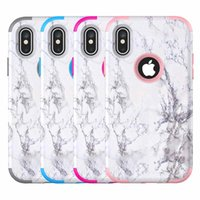 For Iphone XR Case 3in1 Marble Case Soft TPU Hard PC Back Co...