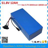 Freie zollgebühr 500 Watt 750 Watt 51,8 V 12AH lithium-batterie 52 V 12AH Elektrische fahrradbatterie 52 V ebike batterie mit 2A ladegerät