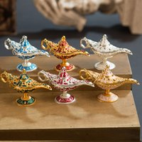 Fairy Tale Aladdin Magic Lamp Vintage Censer Creative Metal ...